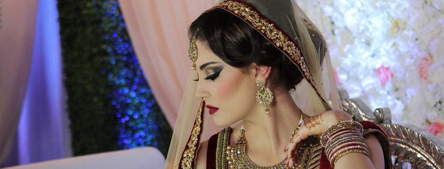 bridal makeup work
